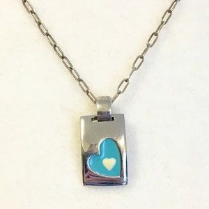 Gorgeous sterling and enamel pendant!